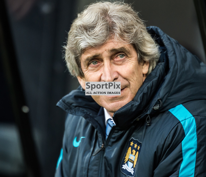 Manchester City manager Manuel Pellegrini in the Premier League match between Newcastle United and Manchester City <br /> <br /> (c) John Baguley | SportPix.org.uk