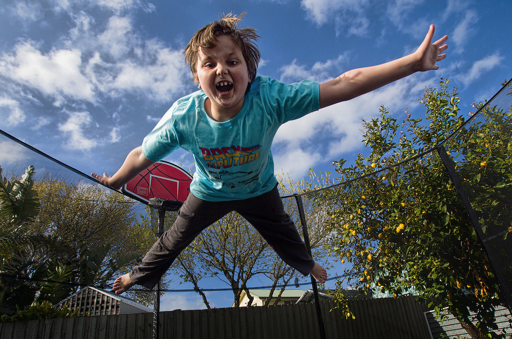 A boy having fun jumping on a trampoline melbourne photographers, commercial photographers, industrial photographers, corporate photographer, architectural photographers, This photograph can be used for non commercial uses with attribution. Credit: Craig Sillitoe Photography / http://www.csillitoe.com<br />
