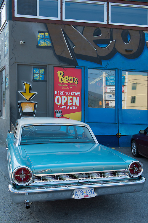 Canada, British Columbia,Nelson, Ford Galaxy in town