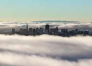 Dawn over San Francisco Bay with skyline.  Printed on archival smooth matte paper, 22x16 inches.  Limited edition