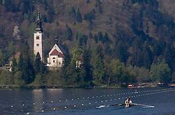 Andraz Krek and Matej Rojec of Ljubljanica-Argo at 51st Prvomajska Regatta Bled 2010, on April 25, 2010, at Lake Bled, Bled, Slovenia. (Photo by Vid Ponikvar / Sportida)