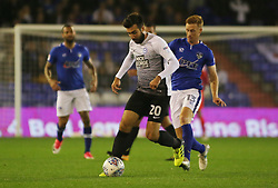 Michael Doughty of Peterborough United is tracked by Eoin Doyle of Oldham Athletic - Mandatory by-line: Joe Dent/JMP - 26/09/2017 - FOOTBALL - Sportsdirect.com Park - Oldham, England - Oldham Athletic v Peterborough United - Sky Bet League One