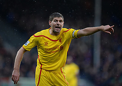 Liverpool's Steven Gerrard gives his players directions. - Photo mandatory by-line: Alex James/JMP - Mobile: 07966 386802 - 23/11/2014 - Sport - Football - London -  - Crystal palace  v Liverpool - Barclays Premier League