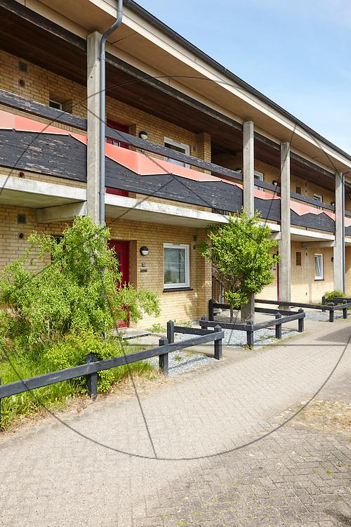 Skallerupparken, Ålborg Øst, AAlborg Øst, Lejerbo, lejeboliger, rækkehuse, Nørre Tranders , eksteriør, facader, svalegang