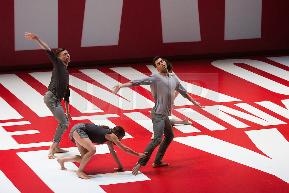 © Licensed to London News Pictures. 01/10/2013. London, England. L-R: Charlie Hodges, Julia Eichten and Morgan Lugo. LA Dance Project perform Reflections choreographey by Benjamin Millepied at Sadler's Wells Theatre.  Photo credit: Bettina Strenske/LNP