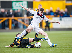 Falkirk's Conor McGrandles.<br /> Alloa Athletic 3 v 0 Falkirk, Scottish Championship game played today at Alloa Athletic's home ground, Recreation Park.<br /> &copy; Michael Schofield.