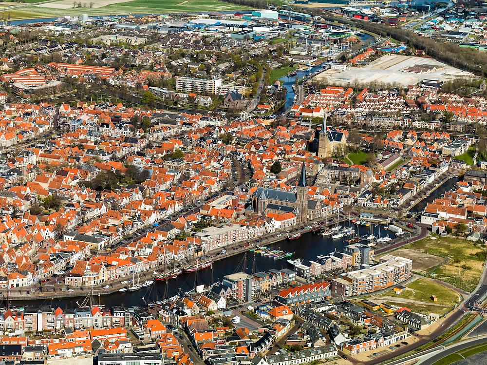 Nederland, Friesland, Harlingen, 16-04-2012; centrum van de stad. .Old town of Harlingen..luchtfoto (toeslag), aerial photo (additional fee required);.copyright foto/photo Siebe Swart