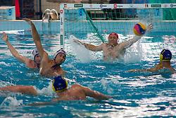 Water polo match between ASD Vaterpolo Koper and AVK Triglav Kranj in 4rd Round of Final of Slovenian Water polo National Championship, on June 23, 2012 in Olympic pool, Kranj, Slovenia. ASD Koper defeated Triglav Kranj 9-8. (Photo By Grega Valancic / Sportida.com)