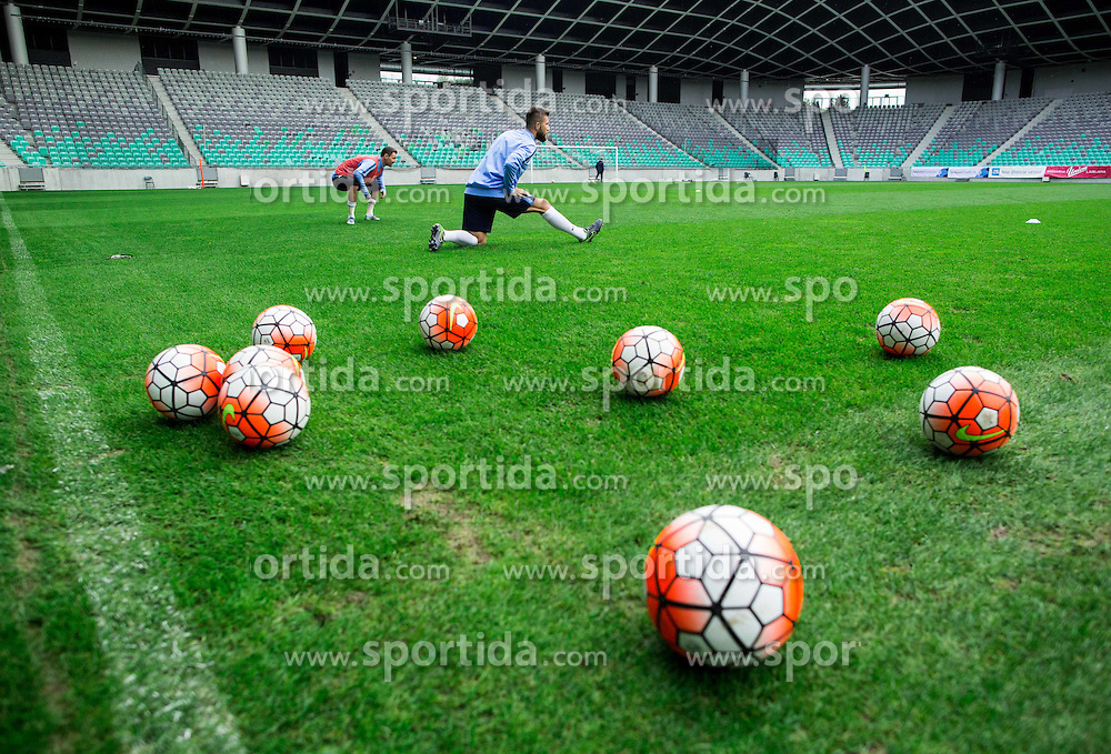 Bostjan Cesar during practice session of Slovenian National Football team two days before Euro 2016 Qualifying game between Slovenia and Lithuania, on October 7, 2015 in SRC Stozice, Ljubljana Slovenia. Photo by Vid Ponikvar / Sportida