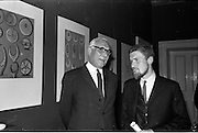 17/06/1963.06/17/1963.17 June 1963.1963 Irish Packaging Competition, reception at the Shelbourne Hotel. The Irish Packaging Institute aimed to raise the standard of packing design and business graphic design in Ireland and held competitions to encourage designers and to aid Irish industry..The 1963 award was sponsored by Hely-Thom Ltd. and named the Hely-Thom Perpetual Award.  Pictured are (l-r) Mr. I.W. Robertson, Sales Director,  Hely-Thom Ltd. and Mr Michael Hilliar, designer of the award.