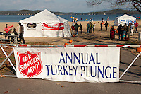 6th annual Turkey Plunge for the Salvation Army at Weirs Beach  November 20, 2010.