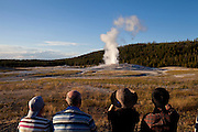Old Faithful in Yellowstone National Park in Wyoming August 22, 2011.