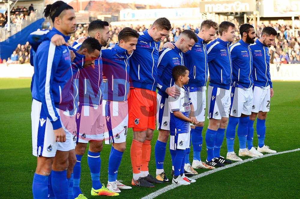 Bristol Rovers memorial service  - Mandatory by-line: Dougie Allward/JMP - 17/11/2018 - FOOTBALL - Memorial Stadium - Bristol, England - Bristol Rovers v Scunthorpe United - Sky Bet League One