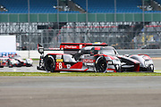 8 LMP1 Audi Sport Team Joest / Audi R18 / Lucas Di Grassi / Loic Duval / Oliver Jarvis during the FIA World Endurance Championship at Silverstone, Towcester, United Kingdom on 15 April 2016. Photo by Craig McAllister.