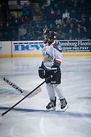 KELOWNA, CANADA - DECEMBER 30: The Pepsi Save On Foods Player of the game waves to the crowd on December 30, 2014 at Prospera Place in Kelowna, British Columbia, Canada.  (Photo by Marissa Baecker/Shoot the Breeze)  *** Local Caption *** Pepsi Save On Foods Player of the Game;