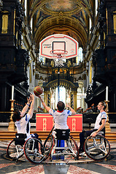 © Licensed to London News Pictures. 24/08/2012. London, UK A Photocall for members of the Great Britain women's wheelchair basketball team playing a demonstration game on the church floor of St Paul's Cathedral, London, directly underneath the dome today 24 August 2012. Photo credit : Stephen Simpson/LNP