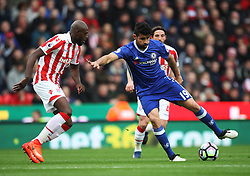 Bruno Martins Indi of Stoke City (L) and Diego Costa of Chelsea in action - Mandatory by-line: Jack Phillips/JMP - 18/03/2017 - FOOTBALL - Bet365 Stadium - Stoke-on-Trent, England - Stoke City v Chelsea - Premier League