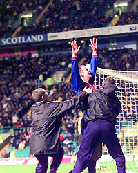 """CELTIC 1 V 3 INVERNESS CALEY..CALEY'S 3RD GOAL - PENALTY - CELE SCORER Paul Sheerin..The team is also famous for its Scottish Cup victories over Celtic in 2000 and winning 3-1 at Celtic Park, resulting in the headline """"Super Caley Go Ballistic Celtic Are Atrocious"""" in The Scottish Sun..©2010 Michael Schofield. All Rights Reserved."""
