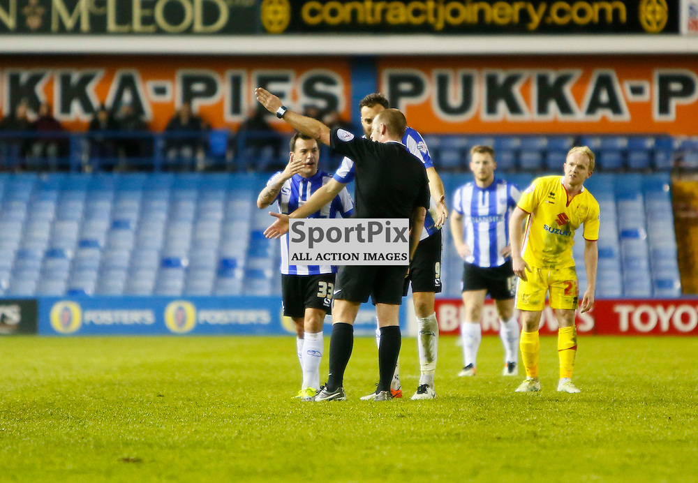 Ross Wallace is sent off during Sheffield Wednesday v Milton Keynes Dons, SkyBet Championship, Tuesday 19th April 2016, Hilsborough, Sheffield