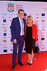 LIVERPOOL, ENGLAND - Thursday, May 10, 2018: Steve Rotheram the Metro Mayor of the Liverpool City Region with his wife Sandra arrive on the red carpet for the Liverpool FC Players' Awards 2018 at Anfield. (Pic by David Rawcliffe/Propaganda)