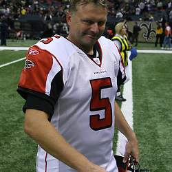 2007 October, 21: Kicker Morten Andersen (5) of the Atlanta Falcons walks off the Superdome turf following a 22-16 win by the New Orleans Saints over the Atlanta Falcons at the Louisiana Superdome in New Orleans, LA.
