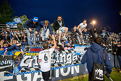 29.05.2015, Holstein Stadion, Kiel, GER, 2. FBL, Holstein Kiel vs TSV 1860 Muenchen, Relegation, Hinspiel, im Bild Christopher Schindler (Nr. 26, 1860 Muenchen) und Dominik Stahl (Nr. 6, 1860 Muenchen) nach dem Spiel auf dem Weg zu den Fans. // during the German 2nd Bundesliga relegation 1st Leg Match between Holstein Kiel and TSV 1860 Munich at the Holstein Stadion in Kiel, Germany on 2015/05/29. EXPA Pictures © 2015, PhotoCredit: EXPA/ Eibner-Pressefoto/ KOENIG<br /> <br /> *****ATTENTION - OUT of GER*****