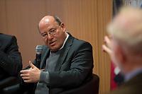 DEU, Deutschland, Germany, Berlin,28.02.2018: Dr. Gregor Gysi bei der Buchvorstellung: Taugt das Christentum noch als geistiges Fundament Europas? Der Skandal der Skandale.