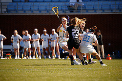 CHAPEL HILL, NC - MARCH 02: Ida Farinholt #19 of the North Carolina Tar Heels during a game against the Northwestern Wildcats on March 02, 2019 at the UNC Lacrosse and Soccer Stadium in Chapel Hill, North Carolina. North Carolina won 11-21. (Photo by Peyton Williams/US Lacrosse)