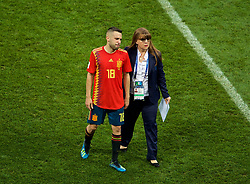 MOSCOW, RUSSIA - Sunday, July 1, 2018: Spain's Jordi Alba looks dejected as his side lose a penalty shoot-out 4-3 to Russia, after a 1-1 draw, during the FIFA World Cup Russia 2018 Round of 16 match between Spain and Russia at the Luzhniki Stadium. (Pic by David Rawcliffe/Propaganda)