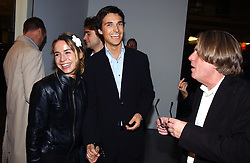 NICOLAI FRAHM and CECILE LE PAIRE at an exhibition of paintings by artist George Condo entitled 'Religious Paintings' held at the Spruth Magers Lee Gallery, 12 Berkeley Street, London W1 on 12th October 2004.<br />