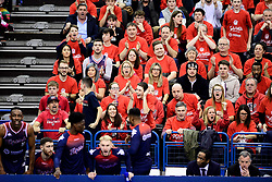Bristol Flyers fans - Photo mandatory by-line: Ryan Hiscott/JMP - 26/01/2020 - BASKETBALL - Arena Birmingham - Birmingham, England - Bristol Flyers v Worcester Wolves - British Basketball League Cup Final