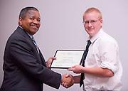 19004Legacy 2008 Recognition & Awards Ceremony in Baker Center 7/31/08: Templeton Scholars, Urban Scholars, and Appalachian Scholars..Appalachian Scholars:..Dr. McDavis & Eric Alexander