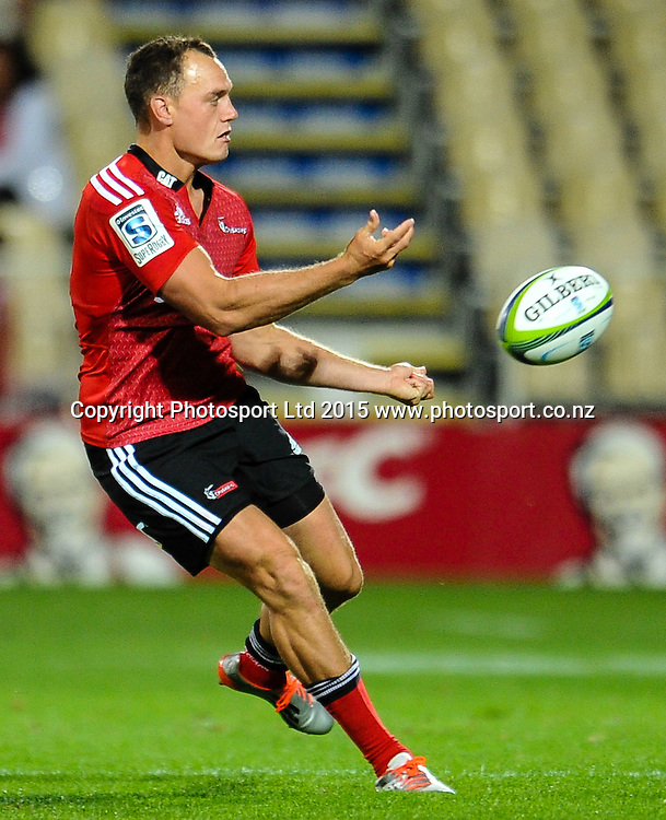 Israel Dagg of the Crusaders during the Super Rugby match, Crusaders v Cheetahs, 21 March 2015 at AMI Stadium, Christchurch. Copyright Photo: John Davidson / www.Photosport.co.nz