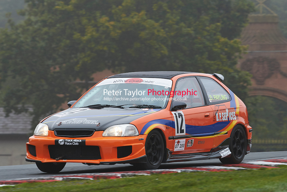 #12 David PAYLING Honda Civic EK during Nippon Challenge / Youririshshop.com MR2 Racing Series - Qualifying  as part of the BARC Championships Race Day at Oulton Park, Little Budworth, Cheshire, United Kingdom. October 03 2015. World Copyright Taylor/PSP. Copy of publication required for printed pictures.  Every used picture is fee-liable. http://archive.petertaylor-photographic.co.uk