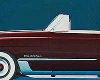 If you want to give your interior an extra stylish detail, this painting by a Cadillac Deville from 1948 is perfect. –<br />