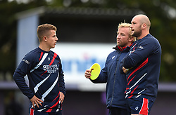 Bristol Rugby coach Sean Marsden talks to captain Billy Searle - Mandatory by-line: Paul Knight/JMP - 22/09/2017 - RUGBY - Clifton RFC - Bristol, England - Bristol United v London Irish 'A' - Aviva A League