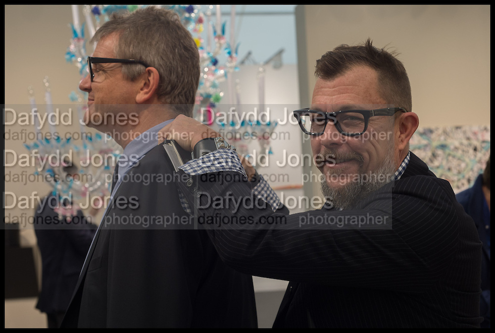 JAY JOPLING; ED SAUL, Opening of Frieze art Fair. London. 14 October 2014