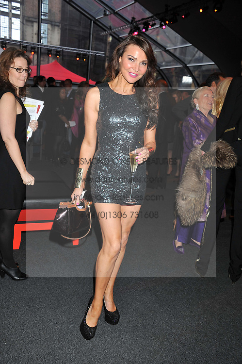 LIZZIE CUNDY at the inaugural Gabrielle's Gala in London in aid of Gabrielle's Angel Foundation for Cancer Research held at Battersea Power Station, London on 7th June 2012.