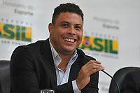 20120116: SAO PAULO BRAZIL - Former Brazilian football player Ronaldo Nazario meet with Brazilian Sports Minister Aldo Rebelo and FIFA Secretary Jerome Valcke to prepare 2014 FIFA World Cup. In picture Ronaldo <br /> PHOTO: CITYFILES