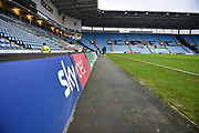 Skybet branding and the CCFC cost in the stand during the EFL Sky Bet League 1 match between Coventry City and Charlton Athletic at the Ricoh Arena, Coventry, England on 26 December 2018.
