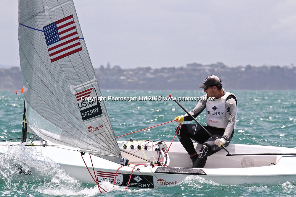 Race 6 Finn Gold Cup Takapuna - Philip Tothe (USA)