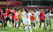 Wuhan Asian Womens U19 Soccer Championship, China v Australia (2-1) 04/08/2009.The match ends in a brawl after China survive a late penalty appeal and win 2-1 to go through to the semi-finals.<br /> <br /> UK Only
