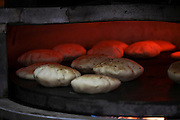 Baking pita in an oven