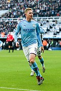 Kevin De Bruyne (#17) of Manchester City celebrates Manchester City's second goal (1-2) during the Premier League match between Newcastle United and Manchester City at St. James's Park, Newcastle, England on 30 November 2019.