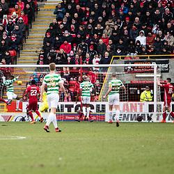 Aberdeen v Celtic, SPrem, 25th February 2018<br /> <br /> Aberdeen v Celtic, SPrem, 25th February 2018 &copy; Scott Cameron Baxter | SportPix.org.uk<br /> <br /> Dembele scores for Celtic from close range. 1-0 Celtic.