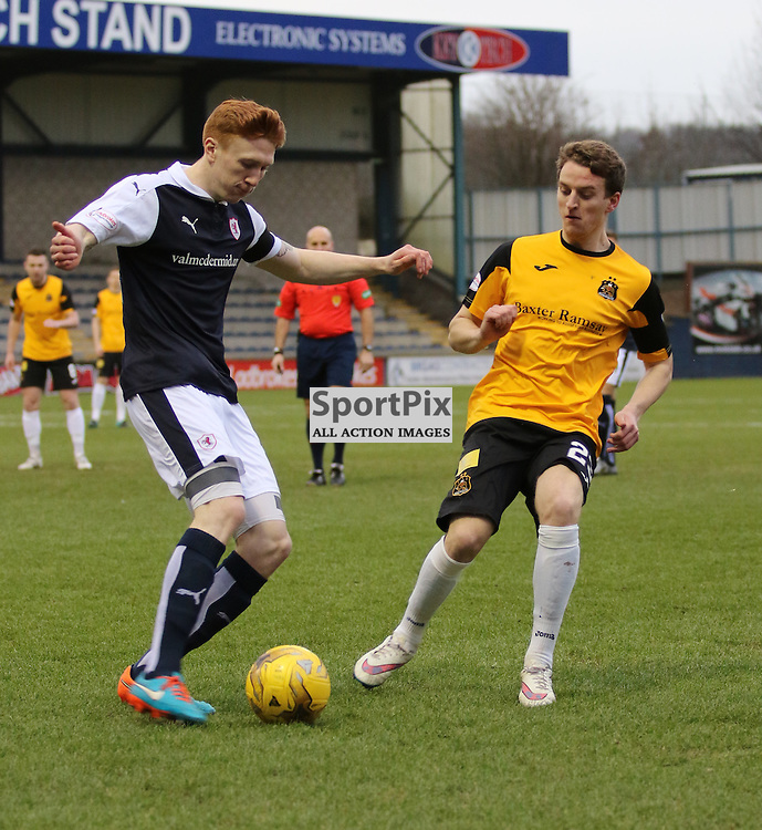 Rangers loan signing to Dumbarton Tom Walsh in action during the Raith Rovers v Dumbarton  Scottish Championship 23 January 2016<br /> <br /> (c) Andy Scott | SportPix.org.uk