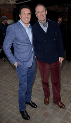 Andre Balazs and A A Gill attend The Working Title Pre BAFTA VIP Brunch at the Chiltern Firehouse, London on Saturday 7 February 2015
