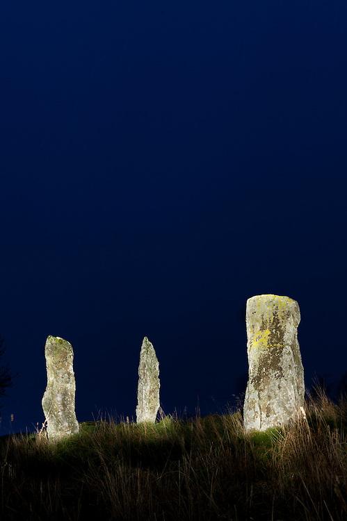 Standing stones, Colmealie, Scotland
