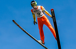 Žiga Jelar (SLO) during Ski jumping Summer cup - 45. Revija skokov Mostec on June 4, 2016 in Mostec hill, Ljubljana, Slovenia.Photo by Vid Ponikvar / Sportida