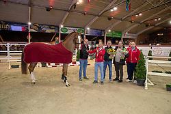 Mithras de Regor, Veldeman familie, De Brabander Joris, <br /> BWP Hengstenkeuring - Lier 2020<br /> © Hippo Foto - Dirk Caremans<br /> 17/01/2020